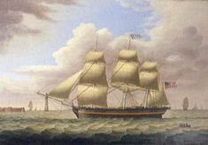 """The """"St. Leon"""" was built in Castine, Maine in 1835. She made frequent voyages to Liverpool and European ports. She worked in the New Orleans cotton trade, carrying fish and ice to New Orleans, then cotton to Liverpool and returning with salt for the Penobscot Bay fisheries. The salt came from British mines near Liverpool."""