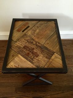 Wine Crate Wood Wine Table  Winery Funtional Art  Accent