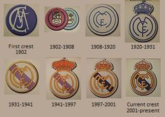 Real Madrid crest 1902-2012...