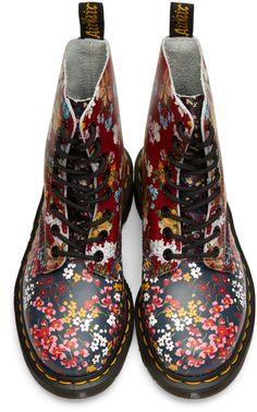 Dr. Martens - Multicolor Floral Mix Pascal PC Boots