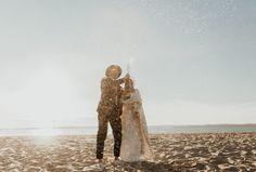 Mariage au Bassin d'Arcachon - Shooting d'inspiration • Sparkly Agency Bordeaux, Champagne, Golden Hour, Marie, Harem Pants, Inspiration, Articles, Beautiful Sunset, The Beach
