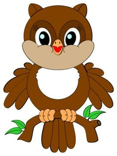 Baby Owl (Clipart is credited to Colorful Cliparts) Owl Clip Art, Owl Art, Clip Art Pictures, Cute Pictures, Drawing For Kids, Art For Kids, Owl Crafts, Cute Clipart, Baby Owls