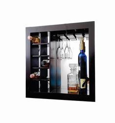 Cava Cantina Mueble Contemporane Para Vinos, Copas De Pared - $ 1,700.00