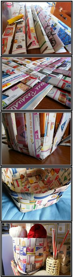 good use of left over magazine pages