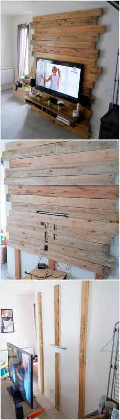 This is one of the superb ideas of the wood pallet material. This idea is making you offer to grab the enjoyment services of the LED holder made with pallets. This LED holder has been set with the planters that is attached by the side of the wall. Its quite an interesting piece to watch it all the time.