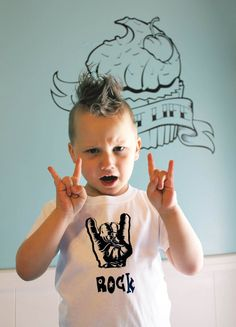 Punk Rocker kid boy t shirt. Age 46. Rock & by LittleMetalMisster, $15.00