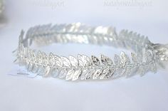 Wedding Bridal Halo Silver Leafs Ancient Greek Crown / Grecian Headpiece / Greek Headband / Wedding Crown