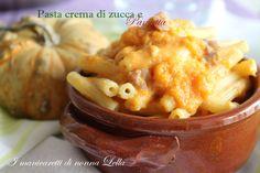 Pasta crema di zucca e pancetta