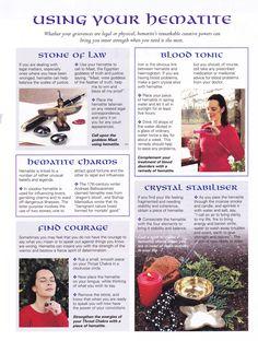 Crystals & Stones:  Using #Hematite.