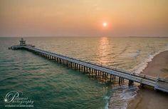 สะพานปรีชา  หาดแม่ลำพึง เป็นที่นิยมมาตกปลา Siam fishing, Rayong , Thailand (pic from palawal)
