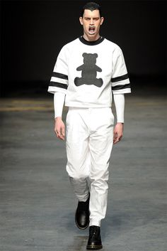 [MAN. Bobby Abley]: These kimono-styled or oversized sleeves may be a bigger men's trend this season.