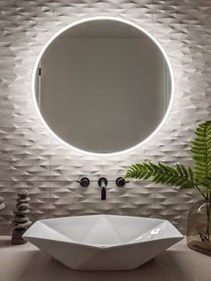 This Elegant Round LED Mirror Will Really Highlight Your Space and Bring a Luxurious Feel to Your Bathroom! Feautures: Round Anti-Fog High Quality Acrylic Frame Color -Natural White Hardwire to Wall Switch or Sensor UPC 850014678111 Limited Warranty Washbasin Design, Led Mirror, Wall Mirror, Bathroom Design Luxury, Modern Interior Design, Modern Mirror Design, Bathroom Inspiration, Small Bathroom, Planer