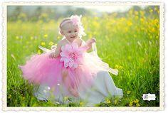 Pink Tulle Flower Dress. $42.00, via Etsy.