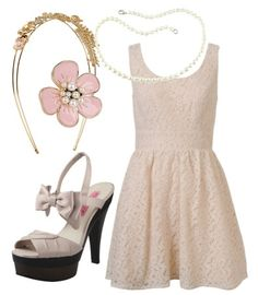I love this outfit!! The cream colour of this dress with bring out the colour of your hair and you will look amazing :)