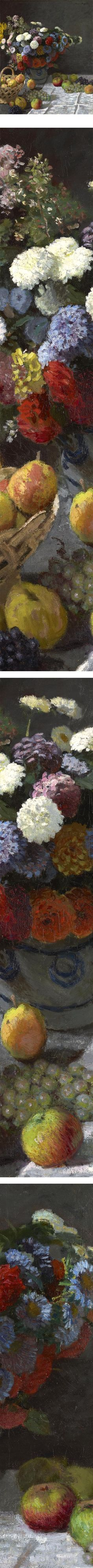 Still Life with Flowers and Fruit - Claude Monet