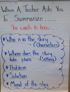 Thoughts of a Third Grade Teacher: Search results for summarize