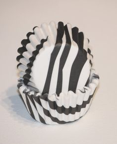 24 White Black Zebra Greaseproof Mini Cupcake Liners Papers Animal Print Party Cups Baking Cups Muffin Cup Baby Shower Girl Birthday Supply