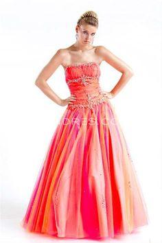 orange prom gown