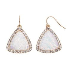 Apt. 9® Triangle Drop Earrings #Kohls