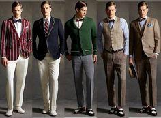 Modelo vestuário masculino anos 20