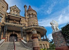 Built by lawyer Colonel Walter Gresham and designed by Nicholas Clayton, Galveston's premier architect, this Victorian castle was cited by the American Institute of Architects as one of the 100 most important buildings in America. The home was built from 1886 to 1892.  http://www.galveston.com/bishopspalace/