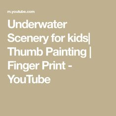 How to make underwater animals using thumb. Interesting school project for kids. School Projects, Projects For Kids, Thumb Painting, Vegetable Painting, Underwater Animals, Finger Print, Art N Craft, Working With Children, Easy Paintings