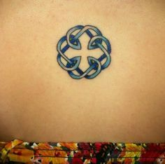My tattoo its the celtic knot symbol for the bond between a father and d