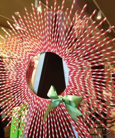 diy craft: peppermint wreath (Kit available at Paper Source)