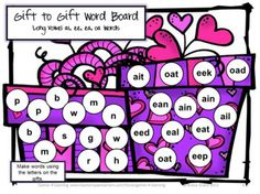 Valentine's Long Vowel Games and Activities is from Games 4 Learning. It is loaded with Valentine's phonics fun with long vowels. $