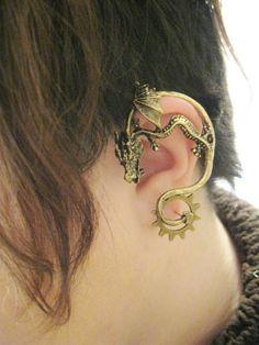 Dragon Brass Ear Wrap