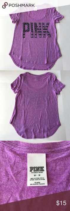 PINK Scoop Neck Tee Worn twice, perfect condition. Perfect for summer time! PINK Victoria's Secret Tops Tees - Short Sleeve