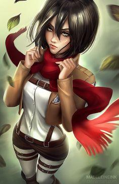 Shingeki no Kyojin, Mikasa Ackerman, by Madeleine Bellwoar