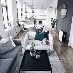 Some Surefire Tips For Home Improvement Success - Small Apartment Living - Apartment Decor Small Apartment Living, Small Apartment Decorating, Condo Living, Small Apartments, Small Living, Modern Living, Apartment Interior, Interior Design Living Room, Living Room Designs