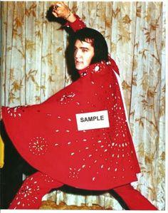 Elvis 8 x 10 Photo Backstage/Las Vegas- RED Jumpsuit W/ Cape Extended & FREE CD! in Entertainment Memorabilia, Music Memorabilia, Rock & Pop, Artists P, Presley, Elvis, Photos | eBay Elvis Costume, Elvis Presley Photos, Red Jumpsuit, Backstage, Las Vegas, Cape, Jumpsuits, Entertainment, Artists