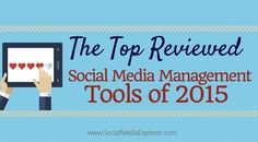 2015 was a huge year for social media management tools. As channels like Facebook begin rolling out more advanced marketingoptionsto the masses, marketers are beginning to understand how imperative it is to have the right tools in their arsenal. That's where G2Crowd comes in. They've analyzed tho