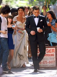 Gossip Girl filming on the NYC Streets