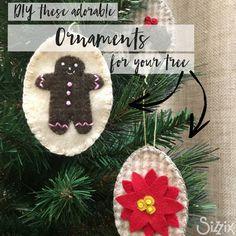Make These Adorable Christmas Ornaments In One Afternoon! / Sizzix Blog - The Start of Something You®