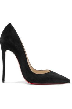 Christian louboutin Black suede Slip on Made in ItalySmall to size. See Size & Fit notes.