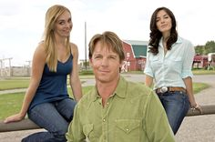 Amy and Lou with dad Tim. Plus Belle La Vie, Heartland Cast, Amber Marshall, Gilmore Girls, Graham, Amy, Tv Shows, Journal, Stars