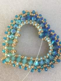 Edgars work has a rich opulence to it that I first noticed back in 2011 while preparing Marcia DeCoster Presents. I asked him to be includ. Heart Jewelry, Beaded Jewelry, Handmade Jewelry, Beaded Necklace, Necklaces, Bracelets, Necklace Tutorial, Engagement Ring Sizes, Beaded Brooch