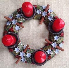 Christmas Door Wreaths, Advent Wreath, Porcelain, Clay, Ceramics, Workshop, Winter, Xmas, Pottery