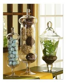 Apothecary Jar Decor Apothecary Jar With Natural Balls And Moss  For The Home