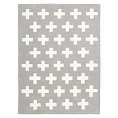 Give a modern twist of geometry to their bedroom with the colourful and cosy Crosses Kids Rug from Rug Culture.
