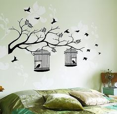 Girls Bedroom - Bird Theme (Love the bedding for the master bedroom though!)
