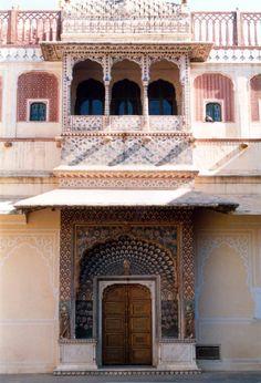 Jaipur palace doorway, India