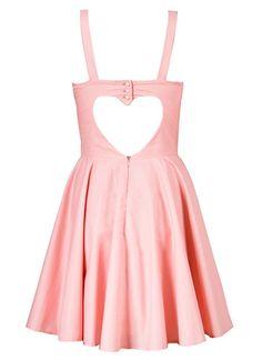 heart cut out sweet heart dress