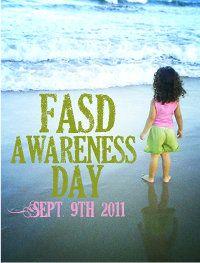 Fetal Alcohol Awareness Day button and ideas via Karen Strange