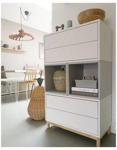 Ikea Office Storage, Ikea Office Hack, Ikea Hack, Ikea Inspiration, Ikea Living Room, Ikea Bedroom, Ikea Buffet, Ikea Eket, Teen Room Decor