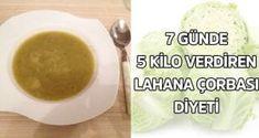7 günde 5 kilo verdiren lahana çorbası