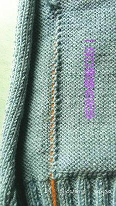 Knitting Jacket- How to Sew Pockets Knitting Help, Knitting Stitches, Baby Knitting, Knitting Patterns, Sewing Pockets, Diy Crochet, Lana, Stitch Patterns, Internet